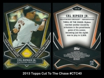 2013 Topps Cut To The Chase #CTC40