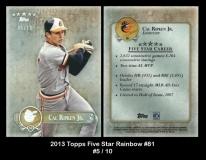 2013 Topps Five Star Rainbow #81