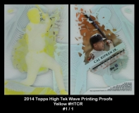 2014 Topps High Tek Wave Printing Proofs Yellow #HTCR