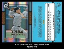 2014 Donruss Stat Line Career #198