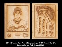 2014 Gypsy Oak Wood Engravings 1980 Charlotte O's Police Gypsy Oak Logo #NNO