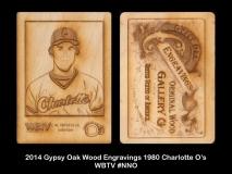 2014 Gypsy Oak Wood Engravings 1980 Charlotte O's WBTV #NNO