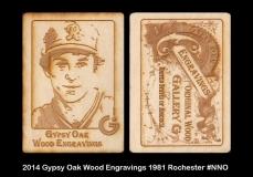 2014 Gypsy Oak Wood Engravings 1981 Rochester #NNO