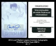 2014-Leaf-RIpken-Legacy-Ironman-Autographs-Printing-Plates-Cyan-IM14