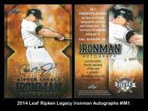2014 Leaf Ripken Legacy Ironman Autographs #IM1