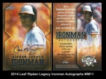 2014 Leaf Ripken Legacy Ironman Autographs #IM11