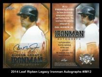 2014 Leaf Ripken Legacy Ironman Autographs #IM12