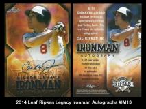 2014 Leaf Ripken Legacy Ironman Autographs #IM13