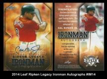 2014 Leaf Ripken Legacy Ironman Autographs #IM14