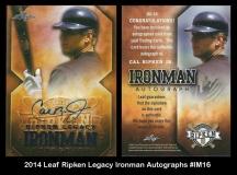2014 Leaf Ripken Legacy Ironman Autographs #IM16