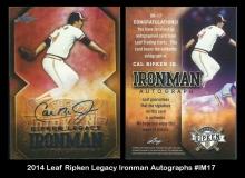 2014 Leaf Ripken Legacy Ironman Autographs #IM17