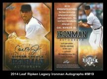 2014 Leaf Ripken Legacy Ironman Autographs #IM19