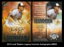 2014 Leaf Ripken Legacy Ironman Autographs #IM20