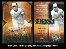 2014 Leaf Ripken Legacy Ironman Autographs #IM3