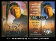 2014 Leaf Ripken Legacy Ironman Autographs #IM4
