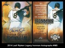 2014 Leaf Ripken Legacy Ironman Autographs #IM5