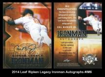 2014 Leaf Ripken Legacy Ironman Autographs #IM6