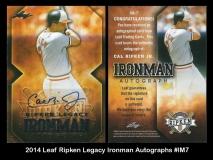 2014 Leaf Ripken Legacy Ironman Autographs #IM7