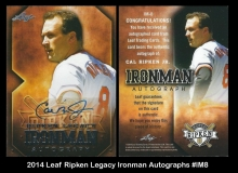 2014 Leaf Ripken Legacy Ironman Autographs #IM8