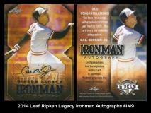2014 Leaf Ripken Legacy Ironman Autographs #IM9
