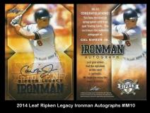 2014 leaf Ripken Legacy Ironman Autographs #IM10