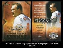 2014 Leaf RIpken Legacy Ironman Autographs Gold #IM8