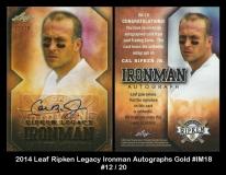2014 Leaf Ripken Legacy Ironman Autographs Gold #IM18