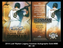 2014 Leaf Ripken Legacy Ironman Autographs Gold #IM5