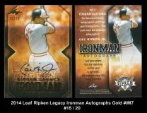 2014 Leaf Ripken Legacy Ironman Autographs Gold #IM7