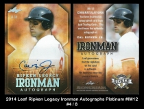 2014 Leaf Ripken Legacy Ironman Autographs Platinum #IM12