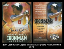 2014 Leaf Ripken Legacy Ironman Autographs Platinum #IM13