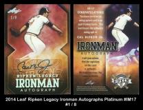 2014 Leaf Ripken Legacy Ironman Autographs Platinum #IM17