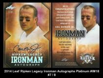 2014 Leaf Ripken Legacy Ironman Autographs Platinum #IM18