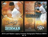 2014 Leaf Ripken Legacy Ironman Autographs Platinum #IM19
