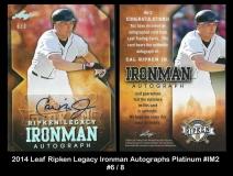2014 Leaf Ripken Legacy Ironman Autographs Platinum #IM2