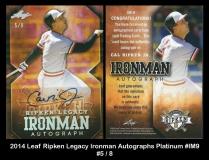 2014 Leaf Ripken Legacy Ironman Autographs Platinum #IM9