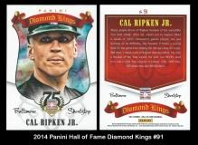 2014 Panini Hall of Fame Diamond Kings #91