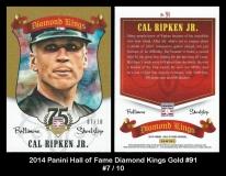 2014 Panini Hall of Fame Diamond Kings Gold #91