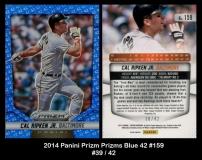 2014 Panini Prizm Prizms Blue 42 #159