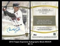 2014 Topps Supreme Autographs Black #SACR