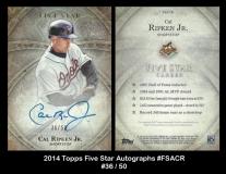 2014 Topps Five Star Autographs #FSACR