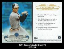 2014 Topps Tribute Blue #73