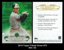 2014 Topps Tribute Green #73
