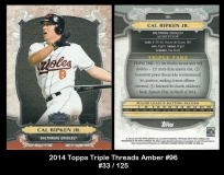 2014 Topps Triple Threads Amber #96