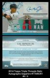 2014 Topps Triple Threads Relic Autographs Sapphire #TTARC1