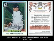 2015 Donruss '81 Press Proofs Platinum Blue #238