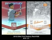 2015 Elite 21st Century Red #195