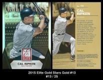 2015 Elite Gold Stars Gold #13