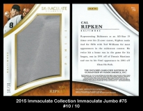 2015 Immaculate Collection Immaculate Jumbo #75