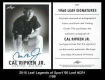 2015 Leaf Legends of Sport '60 Leaf #CR1